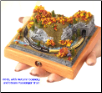 "Miniature Train Layout - 4""x4"" Circle with Scenery"