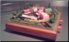 "Miniature Train Layout - 4""x4"" Circle with old Village"
