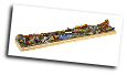 "Miniature Train Layout - 4"" x 24"" Dual Train Dogbone"