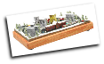 "Miniature Train Layout - 4""x7"" Oval with a down-town City"
