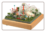 "Miniature Train Layout - 4X4A   4""x4"" Circle with Animated Amusment Park"