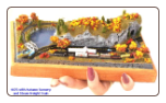 "Miniature Train Layout - 4""x7"" Oval with Scenery"