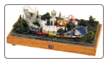 "Miniature Train Layout - 4""x7"" Oval with an Animated Amusement Park"